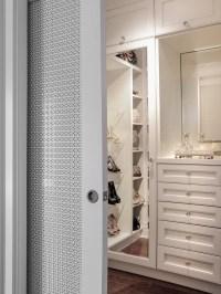 Master Closet with Sliding Doors - Transitional - Closet