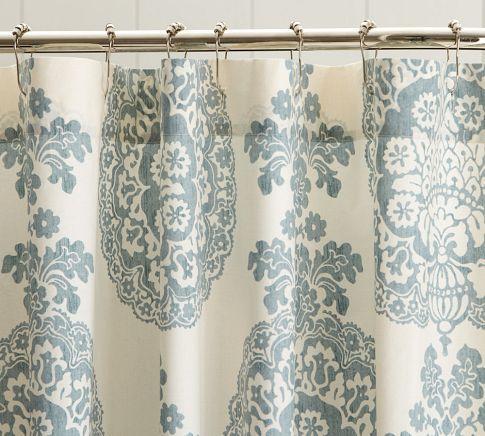 Lucianna Medallion Shower Curtain  Pottery Barn