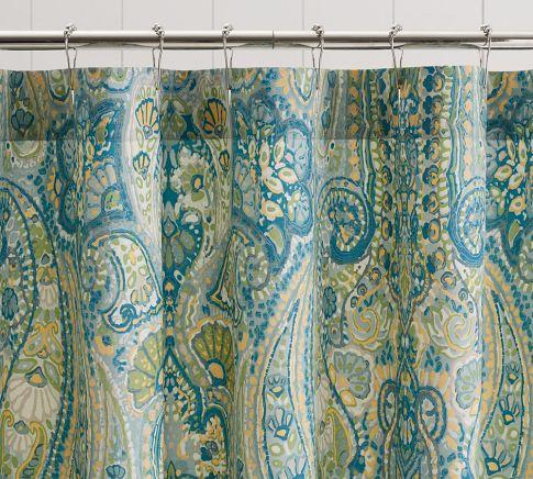 rosalie paisley shower curtain
