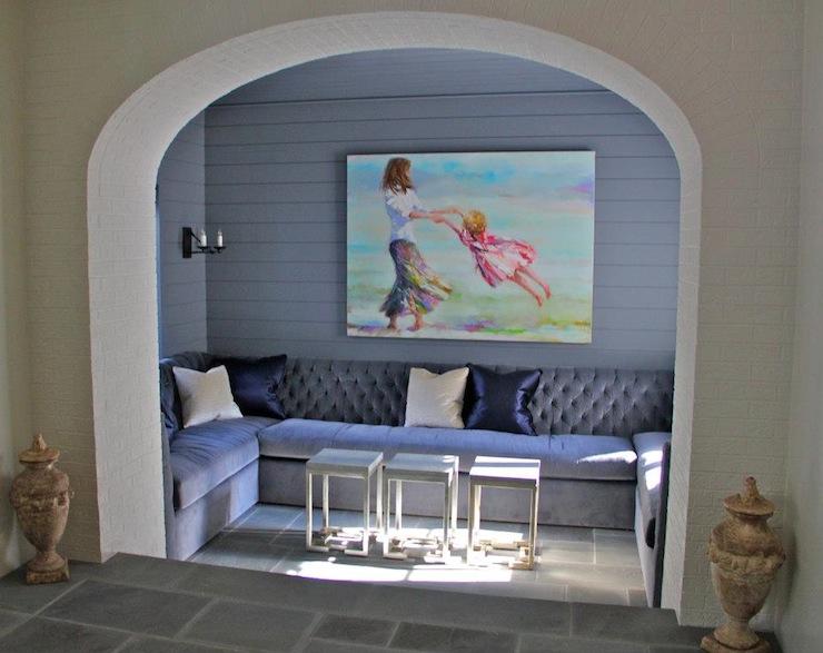 Purple Sofa  Contemporary  entrancefoyer  Ruard