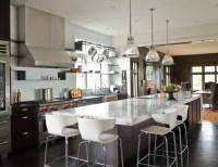 Long Kitchen Island - Contemporary - kitchen - NB Design Group