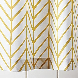 Mustard Feather Shower Curtain Serena & Lily