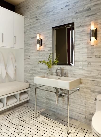 tiled kitchen countertops copper faucets kohler linear tile backsplash design ideas