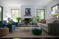 Peacock Blue Chairs - Eclectic - living room - Eric Olsen ...