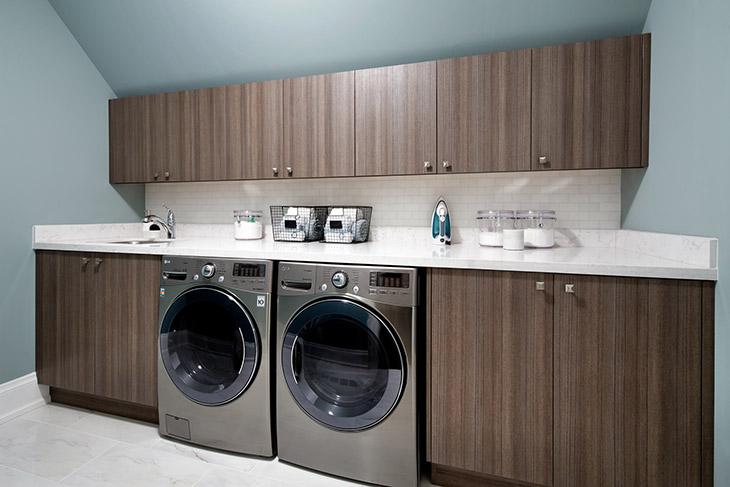 Veneer Cabinets  Contemporary  laundry room  Douglas