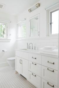All White Bathroom - Contemporary - bathroom - JAS Design ...