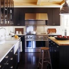 Country Kitchen Island Renovation Black Beadboard Backsplash Design Ideas