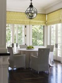 Trellis Roman Shades - Contemporary - dining room - Wendy ...
