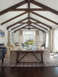 Wood Beams in Living Room - Transitional - living room ...