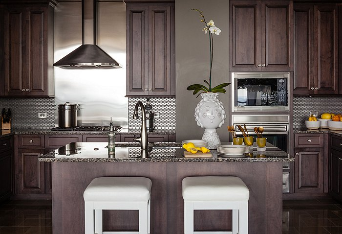 Chocolate Brown Cabinets Contemporary Kitchen Pieces Inc