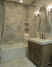 Travertine Tile Bathroom Design Ideas
