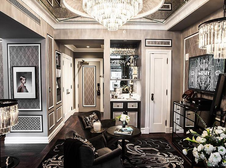 professor chair restoration hardware covers for living room furniture gray trellis wallpaper - transitional the new york plaza hotel
