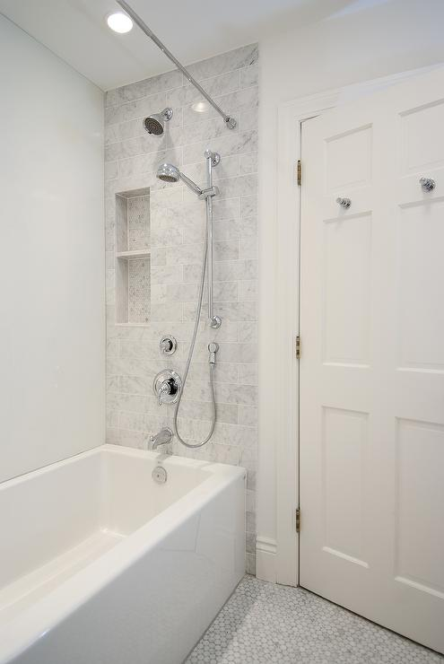 Benjamin Moore Cloud White Contemporary Bathroom