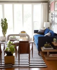 Ikea Rug - Eclectic - living room - Benjamin Moore Half ...
