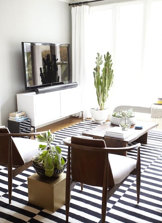 Ikea Stockholm Rug  Eclectic  living room  Benjamin