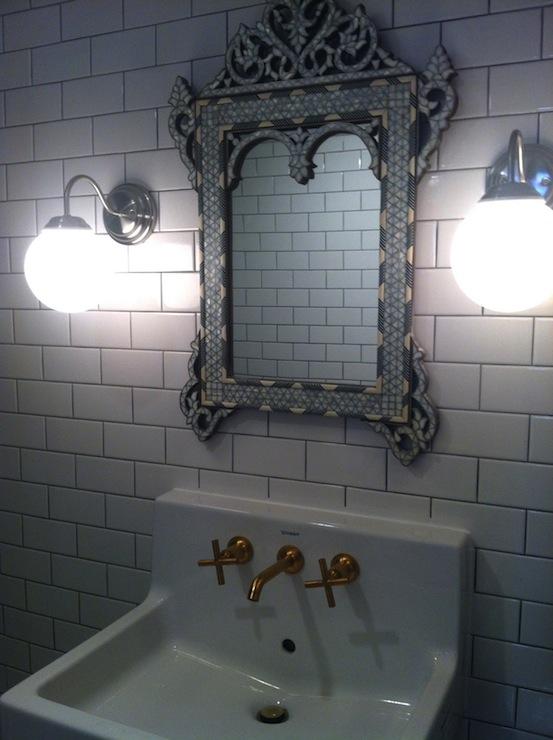 Venetian Mirror in Bathroom  Eclectic  bathroom  Bijou