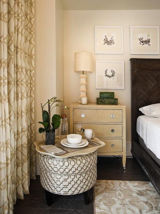 Trellis Curtains  Cottage  bedroom  Sherwin Williams Crisp Linen  HGTV