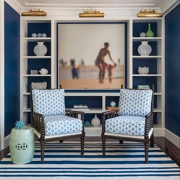 Traditional  Denlibraryoffice  Benjamin Moore Hale Navy