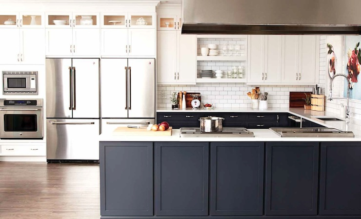 Two Tone Kitchen Cabinets Contemporary Kitchen Chatelaine