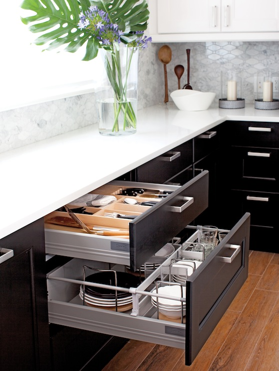 black pull handles kitchen cabinets beach ikea ramsjo and lidingo - contemporary ...
