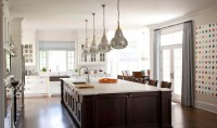 Brown Kitchen Island - Transitional - kitchen - M. Frederick