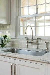 Gray Subway Tile Backsplash - Transitional - kitchen ...