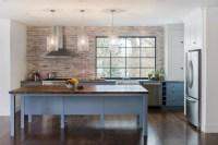 Brick Kitchen Backsplash - Contemporary - kitchen - Pinney ...