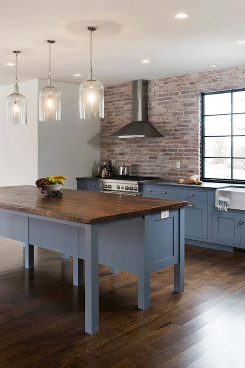 Blue Kitchen Cabinets Contemporary Kitchen Pinney