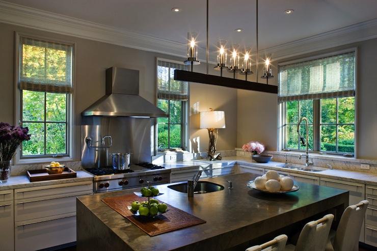 Linear Iron Chandelier  Contemporary  kitchen  CWB