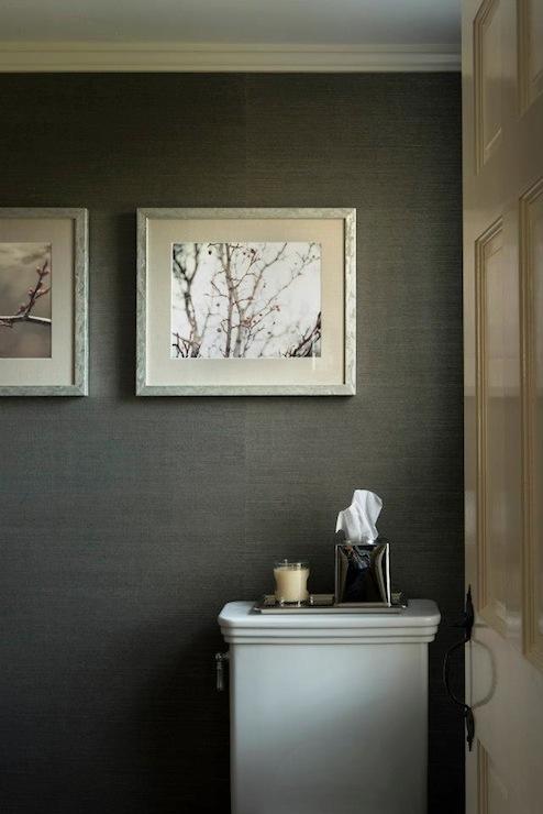 Phillip Jeffries Juicy Jute Grasscloth Wallpaper Blueberry