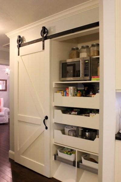 sliding barn door kitchen pantry Kitchen pantry with Sliding Barn Door - Traditional
