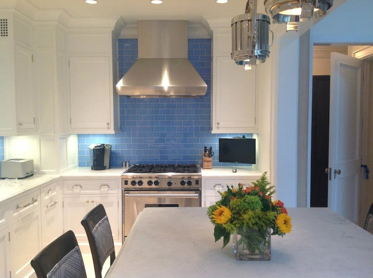 Blue Subway Tile Backsplash Design Ideas
