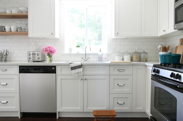 White Shaker Cabinets  Transitional  kitchen  Benjamin