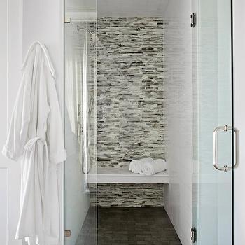 linear glass tile surround design ideas