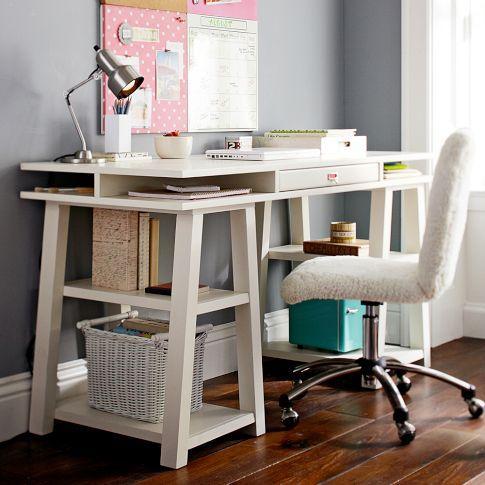 CustomizeIt Storage Trestle Desk  PBteen