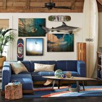 Cushy Lounge Super Sectional Set + Base - PBteen