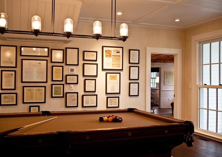 Billiard Girl Wallpaper Pool Room Traditional Media Room Marcia Tucker Interiors