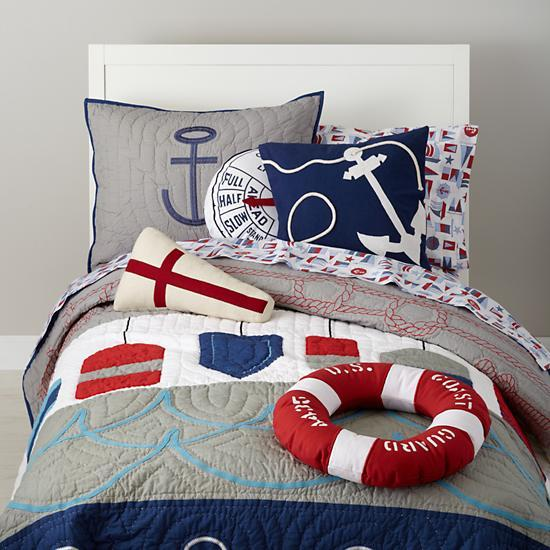 Girl Motorcycle Wallpaper Covered Nautical Buoy Bedding Set The Land Of Nod