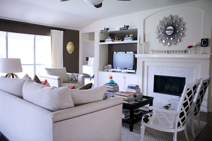 Built In Media Cabinet  Transitional  living room  Behr
