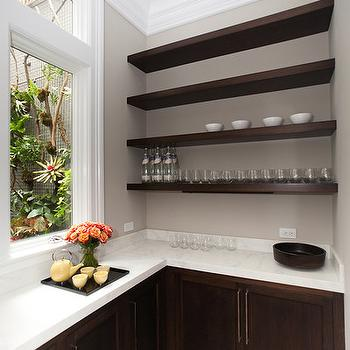 kitchen wire shelving bay window curtains l shaped pantry design ideas