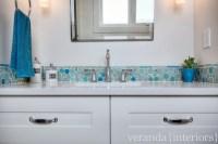 Mosaic Glass Bubble Tile - Contemporary - bathroom - Veranda