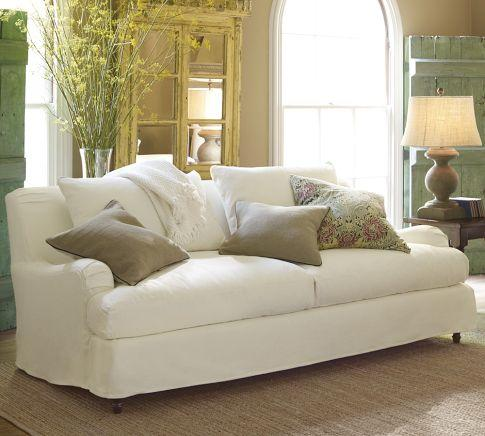 english roll arm sofa bett slipcover for oasis - crate&barrel