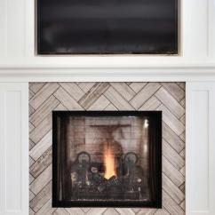 Gray Chevron Chair Baby Swing Vibrating Combo Stone Fireplace Design Ideas