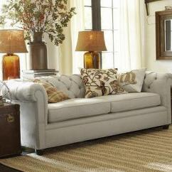 Pottery Barn Chesterfield Upholstered Sofa Falabella Argentina Cama Chester Tufted Leather - West Elm