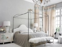French Bed Canopy - French - bedroom - Lucinda Loya Interiors