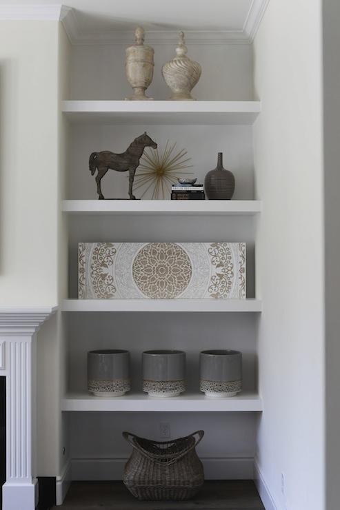 Fireplace Floating Shelves Design Ideas