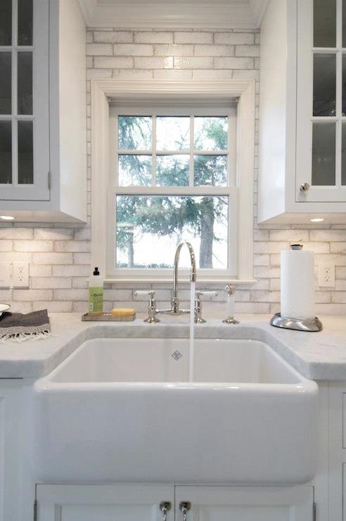 Waterworks Reclaimed Brick Transitional Kitchen