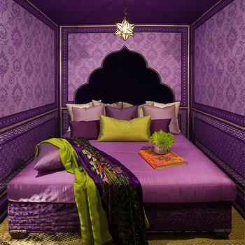 moroccan bedroom gold purple Purple Moroccan Bedrooms Design Ideas
