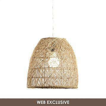 Kirkland Woven Rattan Dome Pendant Light