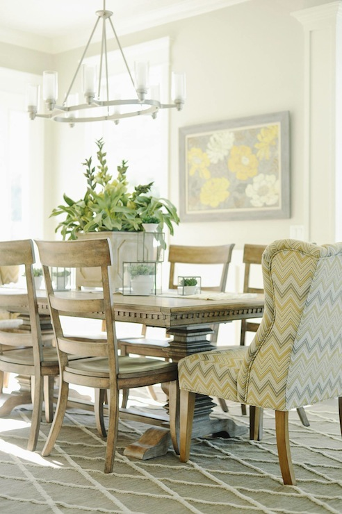 gray chevron chair stool harvey norman yellow and - transitional dining room davies development